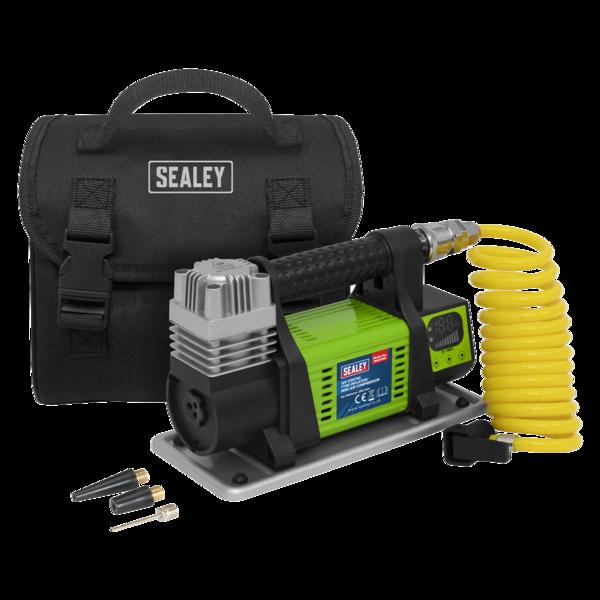Sealey MAC04D Digital Tyre Inflator/Mini Air Compressor 12V Max Pressure 100psi Thumbnail 1