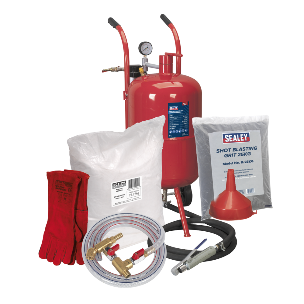 Sealey SBKITA Shot & Soda Blasting Kit