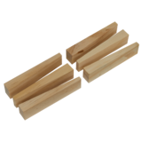 Sealey WSWW Wooden Wedge Kit 6pc