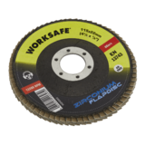Sealey WZ4560 Zirconium Flap Disc Ø115mm 60Grit - Pack of 10