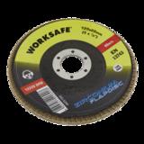 Sealey WZ5120 Zirconium Flap Disc Ø125mm 120Grit - Pack of 10