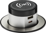 Knightsbridge MLSK0015 Wireless Desktop Charger with Pop-Up Dual USB charger