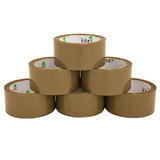 6 Rolls Brown Parcel Packing Tape Noisy Polyprop Brown Acrylic Tape 48mm x 66m