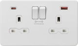 Knightsbridge MLSFR9909MW 13A 2G DP Switched Socket with Dual USB FASTCHARGE