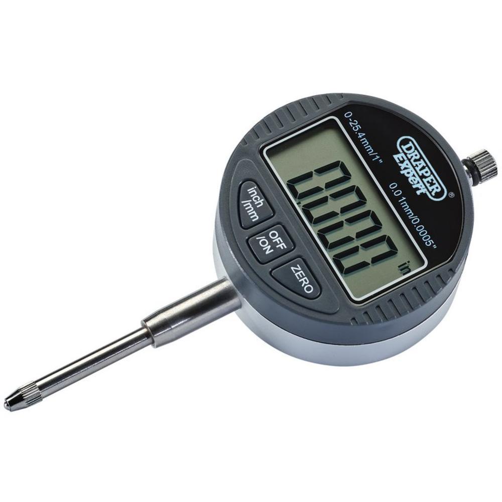 """Draper 94255 Dual Reading Digital Dial Test Indicator (0-25mm/0-1"""")"""