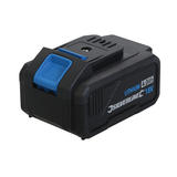 Silverline 963917 18V Li-ion fast-charging battery built-in charge indicator