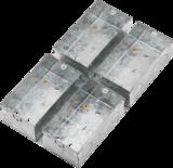 Knightsbridge MLGSK298MM 47mm Galvanised Steel Box for Combination Plate