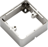 Knightsbridge ML1GSBBC 1G Surface Box - Brushed Chrome effect
