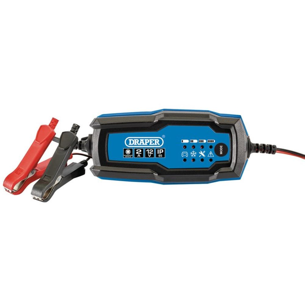 Draper 53488 12V Smart Charger and Battery Maintainer (2A)