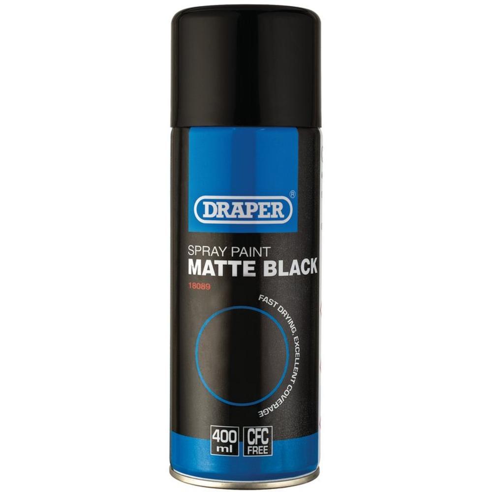 Draper 18089 MATT BLACK SPRAY PAINT (400ML)