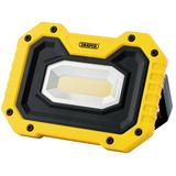 Draper 90004 COB LED Rechargeable Worklight Wireless Speaker 5W 500 Lumen Yellow