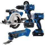 Draper 99243 Carpenter/Joiner Cordless Toolkit Saw Oscillating Multi Tool Impact