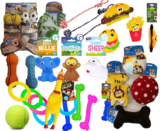 Dog Toy Selection Bundle, Squeaky, Balls,Soft, Rubber and Rope Toys