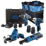 Draper 91032 Draper Storm Force ® 10.8V Drill Saw Ratchet 4 Pack + 4 Battery