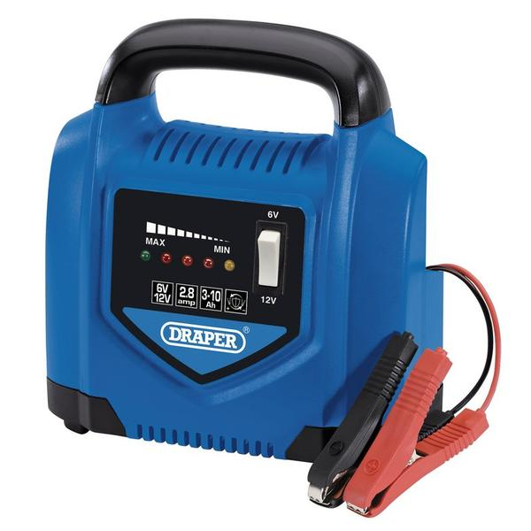 Draper 53047 6V/12V Battery Charger, 2.8A Thumbnail 1