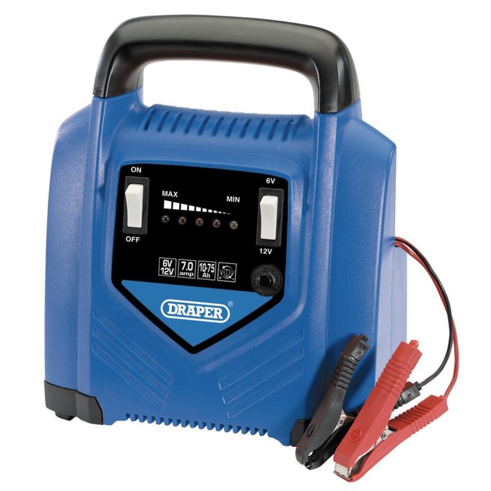 Draper 53164 6V/12V Battery Charger, 7.0A