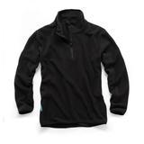 Tough Grit THC00286 1/4-Zip Fleece Black Medium