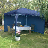 Draper 02577 AGAZ1B 2 x Blue Gazebo Side Panels - 3M x 1.9M