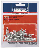 Draper 13556 RIV 50 x 4mm x 5.6mm Blind Rivets