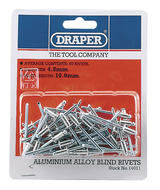 Draper 14011 RIV 50 x 4.8mm x 10mm Blind Rivets