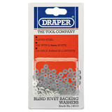 Draper 14013 RIV/W 100 x 2.4mm Rivet Backing Washers