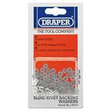 Draper 14013 RIV/W 100 x 2.4mm Rivet Backing Washers