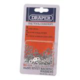 Draper 14015 RIV/W 100 x 4mm Rivet Backing Washers