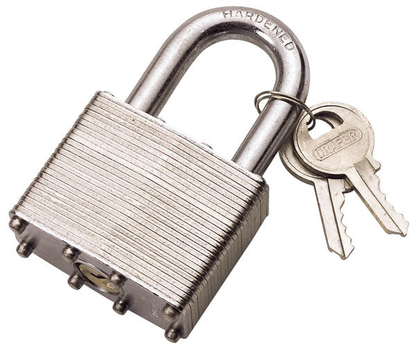 Draper lt mm laminated steel padlock