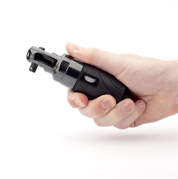 "Draper 14199 5219PRO Expert 1/4"" Sq. Dr. Stubby Composite Body Reversible Air Ratchet Thumbnail 2"