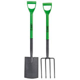 Draper 16566 EF/DSDF/SET Easy Find Carbon Steel Garden Fork and Spade Set