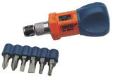 Draper 18927 7MRS 7 Piece Chubby Ratchet Screwdriver And Bit Set