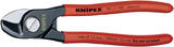Knipex 19590 95 11 165 SBE Knipex 165mm Copper or Aluminium Only Cable Shear