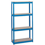 Draper 21658 MSU152 Steel Shelving Unit - Four Shelves (L760 x W300 x H1520mm)