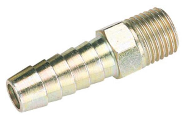 Draper 25801 A1217 BULK 1/4 BSP Taper 3/8 Bore Pcl Male Screw Tailp Thumbnail 1