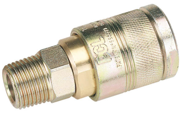 Draper 25815 A5JM02 BULK 1/2 BSP Male Thread Air Line Coupling Thumbnail 1