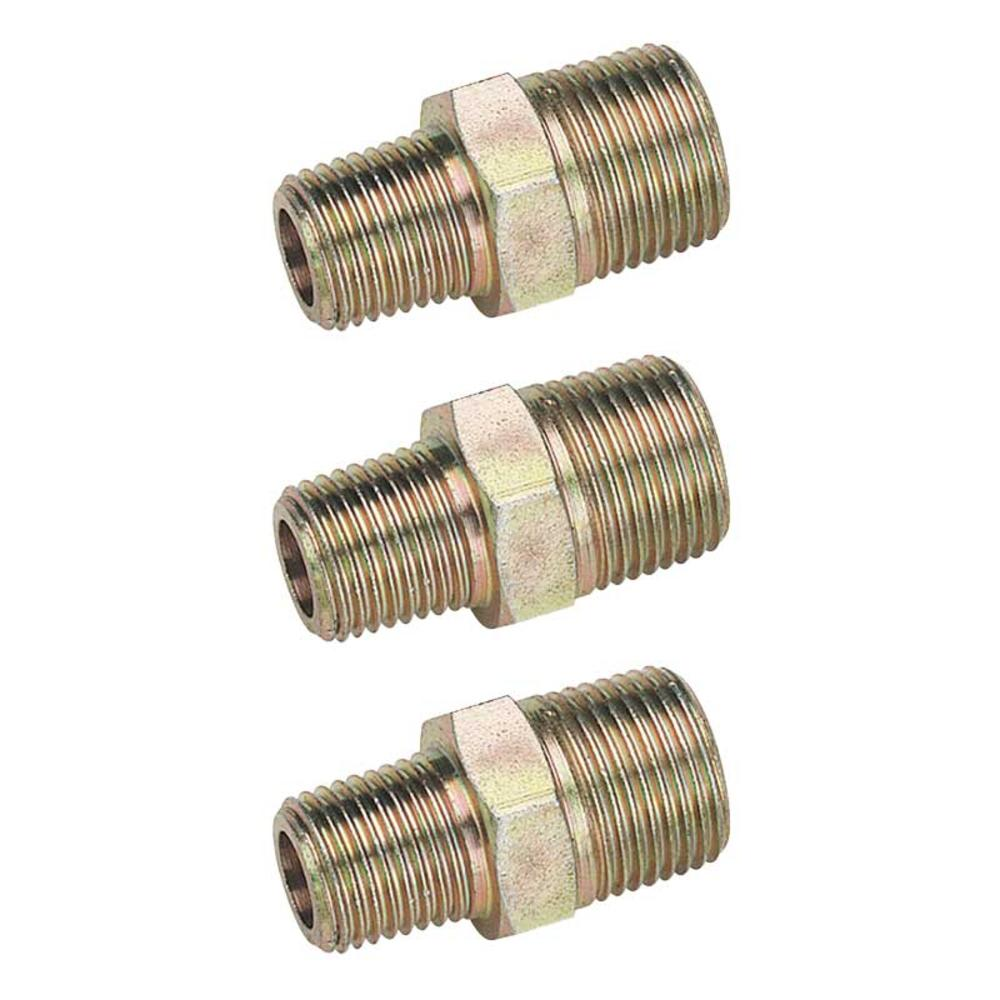Draper 25868 A6899 PACKED 3/8 Male To 1/4 Male BSP Taper Reducing Union pack of 3