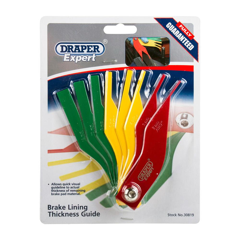 Draper 30819 BPTG8 Expert Brake Lining Thickness Guide