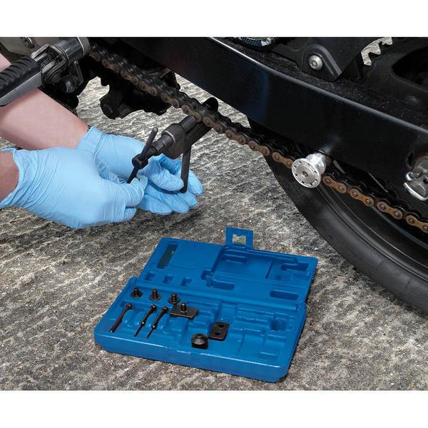 Draper 31318 CBRK3 Expert Motorcycle Chain Splitter and Riveter Kit Thumbnail 2