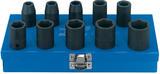 Draper 33668 410/10SC Expert 10 Pce 1/2 Sq Dv Metric Impact Socket Set