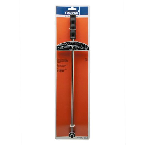Draper 34487 3000 1/2 Square Drive Beam Torque Wrench 0 - 21Kg/M Thumbnail 4
