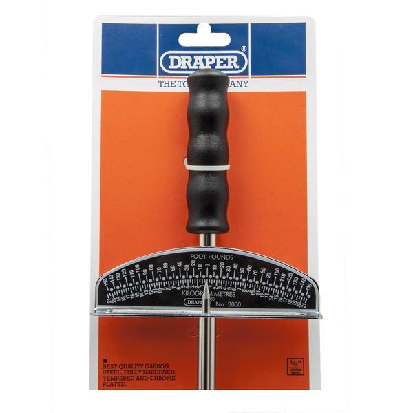 Draper 34487 3000 1/2 Square Drive Beam Torque Wrench 0 - 21Kg/M Thumbnail 2