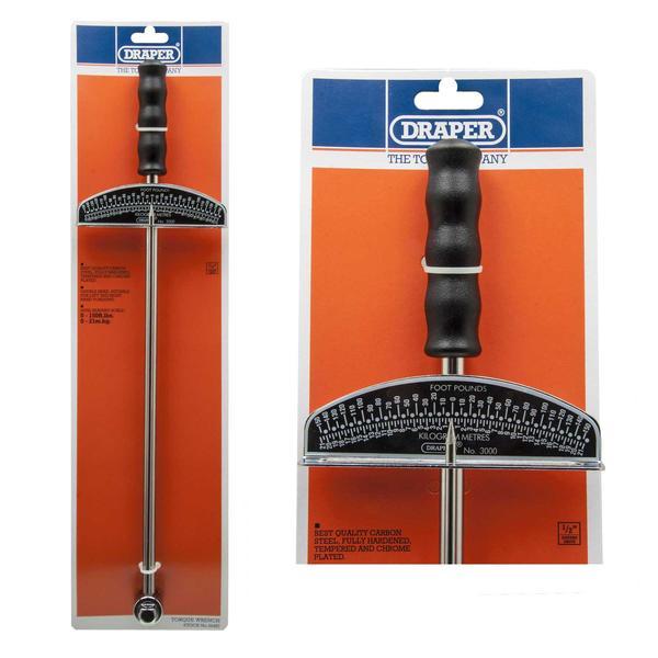 Draper 34487 3000 1/2 Square Drive Beam Torque Wrench 0 - 21Kg/M Thumbnail 1