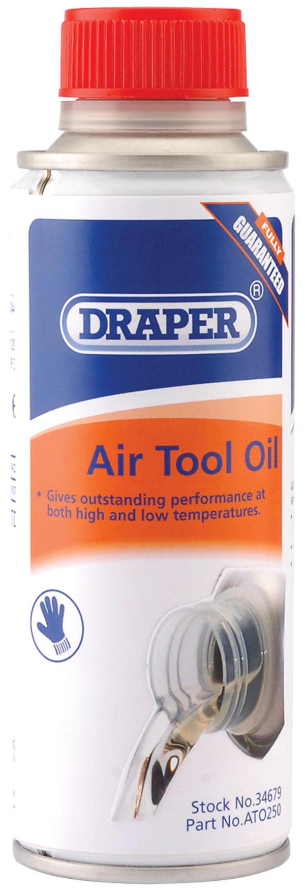 Draper 34679 ATO250 250Ml Air Tool Oil Thumbnail 1