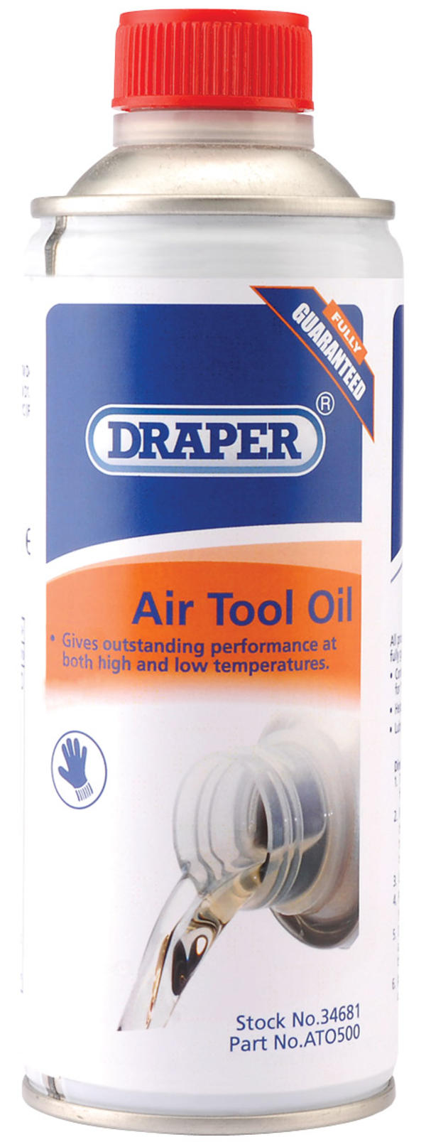 Draper 34681 ATO500 500Ml Air Tool Oil Thumbnail 1