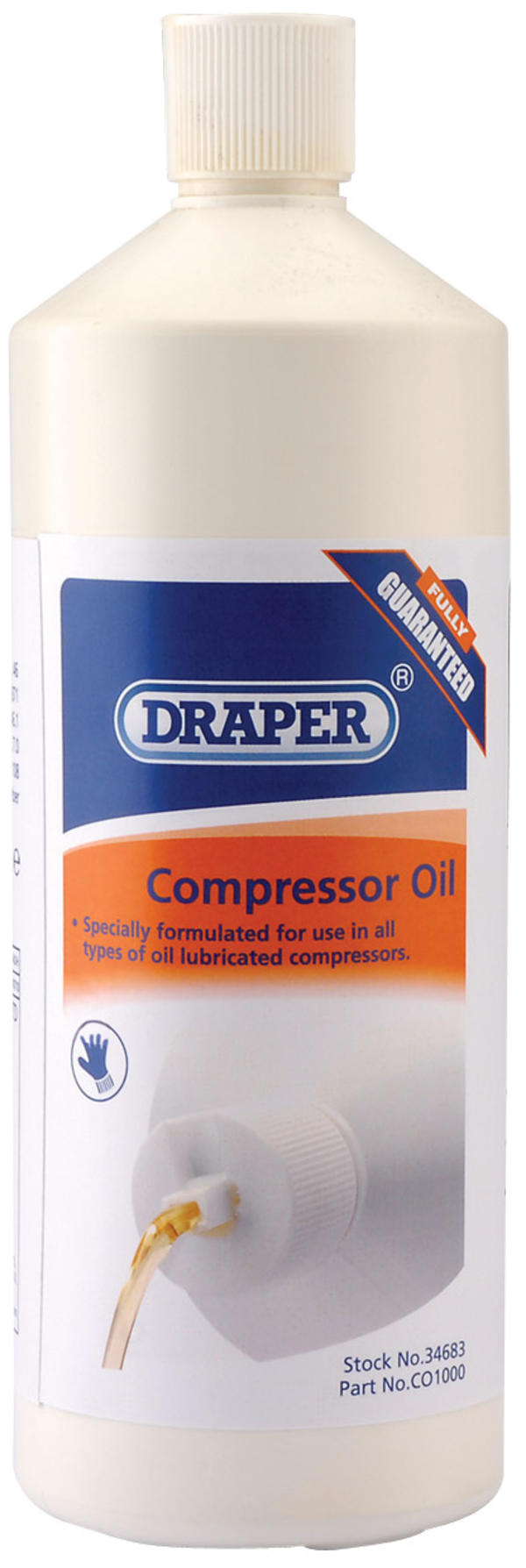 Draper 34683 CO1000 1L Compressor Oil Thumbnail 1