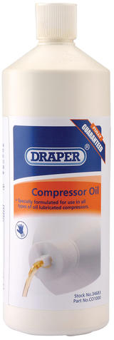 Draper 34683 CO1000 1L Compressor Oil