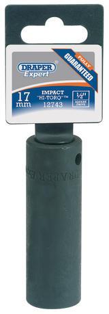 Draper 35519 410D-MM 32mm 1/2 Square Drive Deep Impact Socket