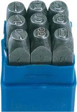 Draper 37338 NS 6mm 0 - 9 Number Stamp Set