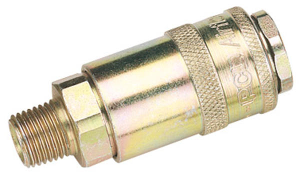 "Draper 37833 A21CM02 BULK 1/4"" Tapered Male Coupling Thumbnail 1"