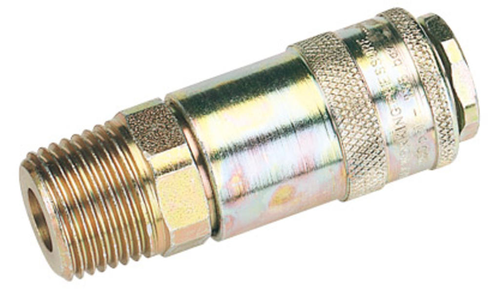 "Draper 37837 1/2"" Male Thread Pcl Tapered Airflow Coupling"
